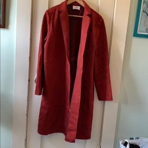 Faux red suede Zara jacket